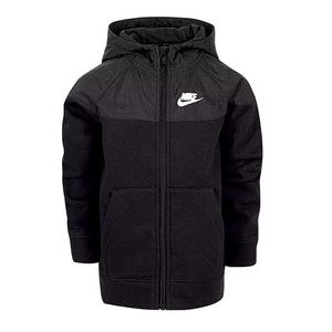 NWT Nike Boys Dri-Fit Jacket w/ Hood-black Sz 6-7